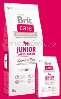 Brit Care Dog Junior Large Breed Lamb & Rice 2x12kg