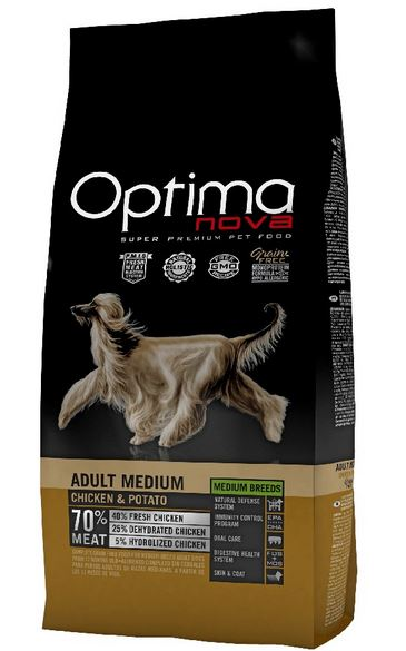 OPTIMAnova dog ADULT MEDIUM GRAIN FREE 2x12kg