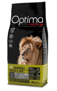 OPTIMAnova CAT ADULT HAIRBALL 8kg