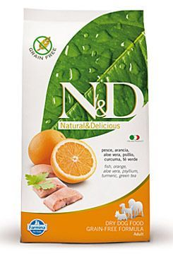 N&D Grain Free DOG Adult Maxi Fish & Orange 2x 12kg
