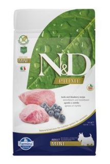 N&D PRIME DOG Adult Mini Lamb & Blueberry 800g