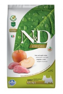 N&D PRIME DOG Adult Mini Boar & Apple 2,5kg