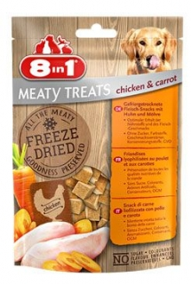 Pochoutka 8in1 Meaty Treats FD Chicken/Carrots 50g