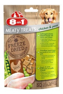 Pochoutka 8in1 Meaty Treats FD Chicken/Peas 50g