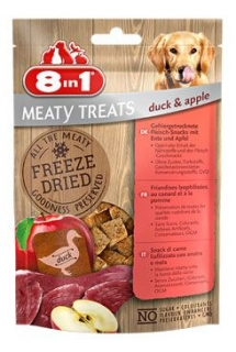 Pochoutka 8in1 Meaty Treats FD Duck/Apple 50g