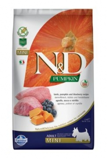 N&D Pumpkin DOG Adult Mini Lamb & Blueberry 2,5kg