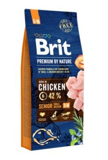 Brit Premium Dog by Nature Senior S+M 15kg